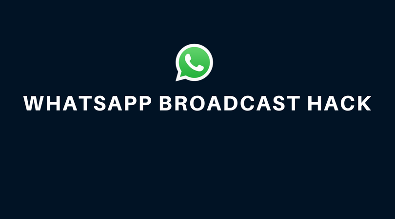 Set up whastapp broadcast group for free